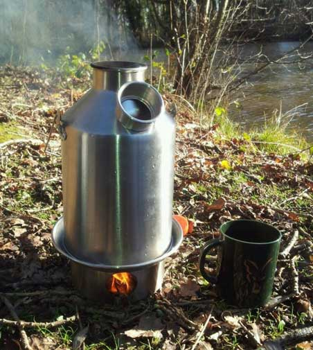 Medium 'Scout' Kelly Kettle (Stainless Steel) 1.2 ltr.